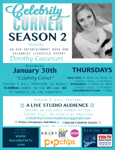 Celebrity Corner Flyer